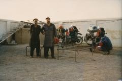 Nachtlager, Grenze Pakistan_ Iran, 1991